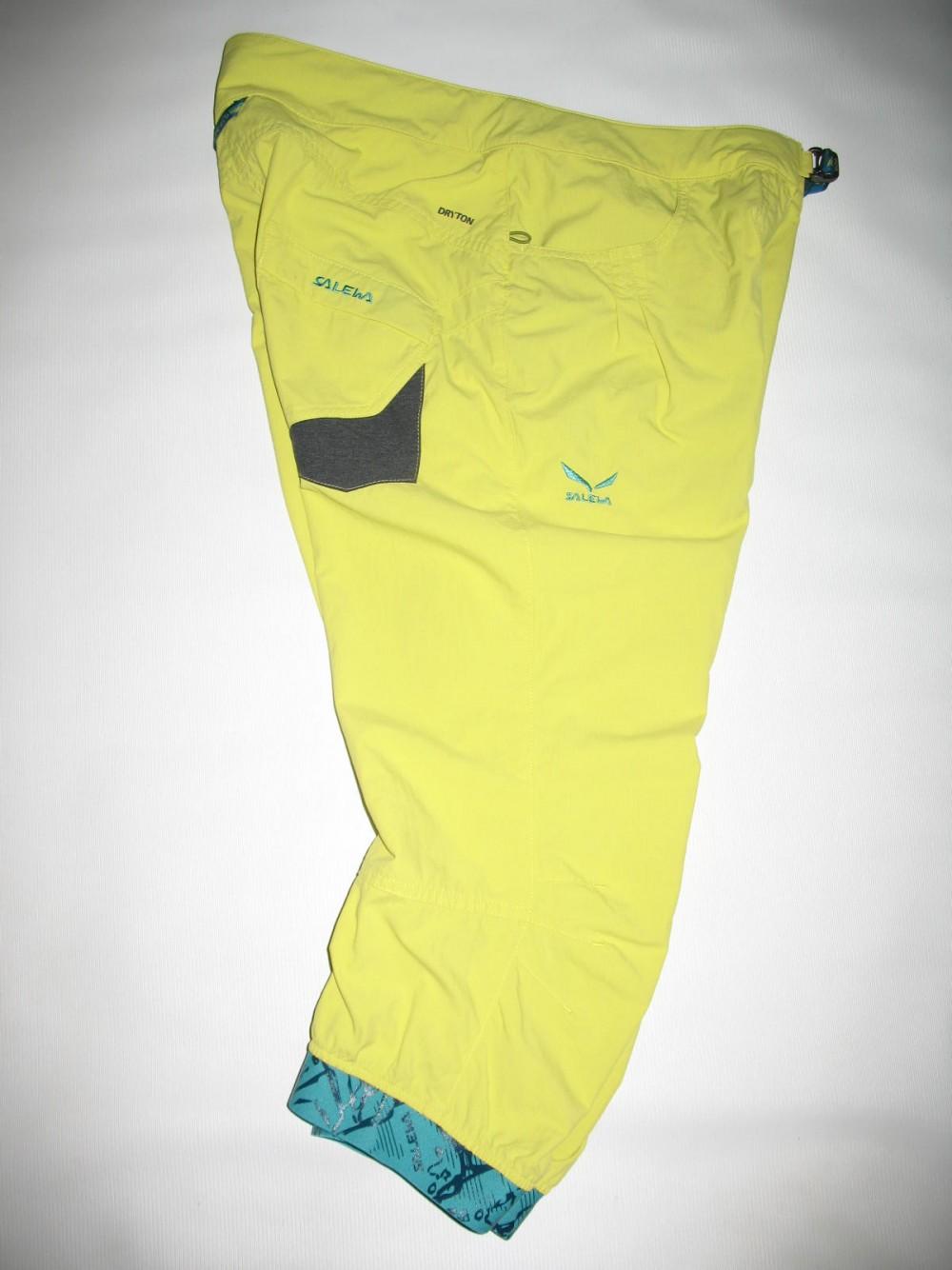 Штаны SALEWA rhytmo dry 3/4 pant lady (размер М) - 3