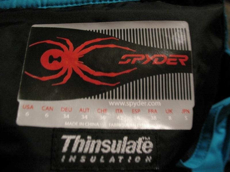 Штаны SPYDER ski pants lady (размер S) - 10