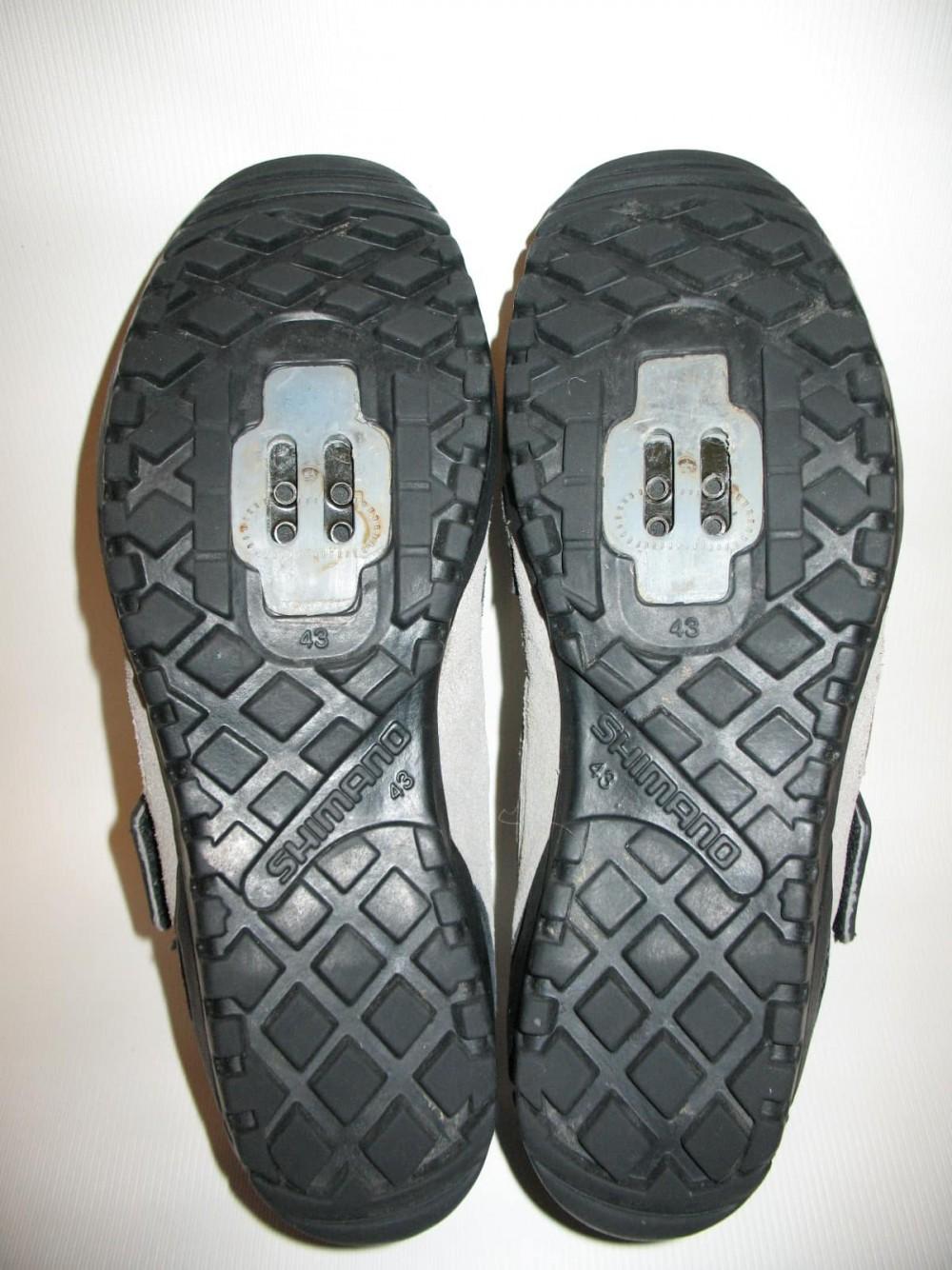 Велотуфли SHIMANO sh-m038 MTB shoes (размер US9;EU43(на стопу до 272 mm)) - 5