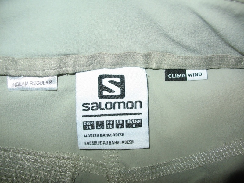 Штаны SALOMON Wayfarer climawind pant lady (размер S) - 10