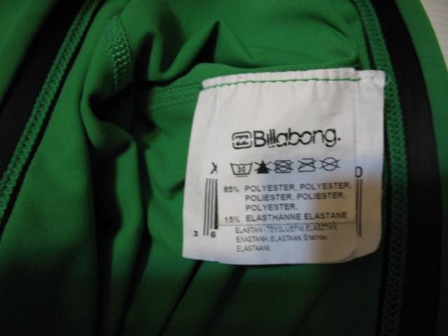 Футболка BILLABONG intersection ss green rashguard (размер XL) - 5