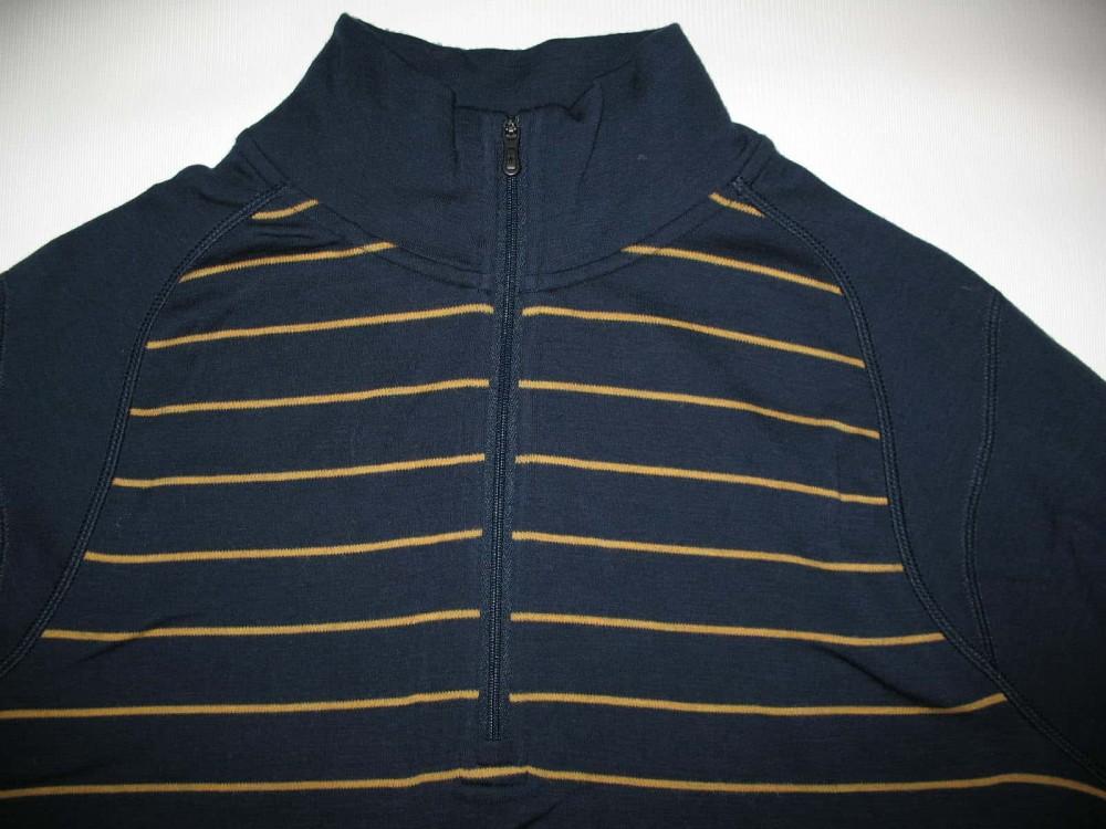 Кофта SMARTWOOL merino 250 base layer 1/4 zip navy jersey (размер М) - 3