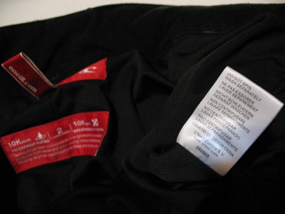 Штаны O'NEILL 10/10 snowboard pants (размер S) - 11