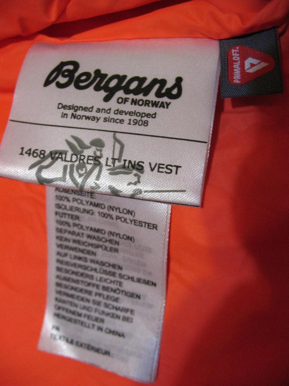 Жилет BERGANS valdres primaloft vest (размер L) - 10