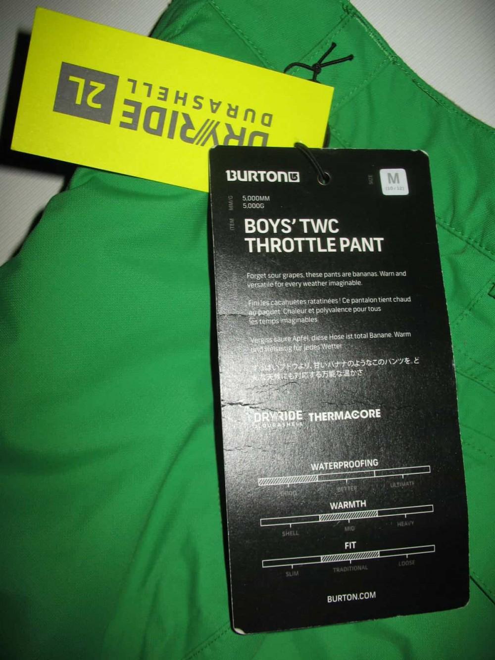 Брюки BURTON Boys TWC throttle snowboard pant (размер M подростковый(на рост 138-  147см)) - 8