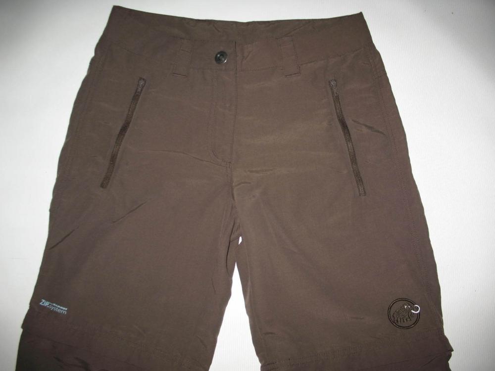 Штаны MAMMUT Zip Off brown pants lady (размер S/XS) - 8