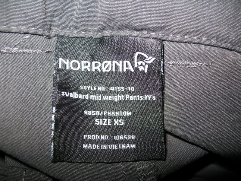 Штаны NORRONA Svalbard mid weight pants lady (размер XS) - 10