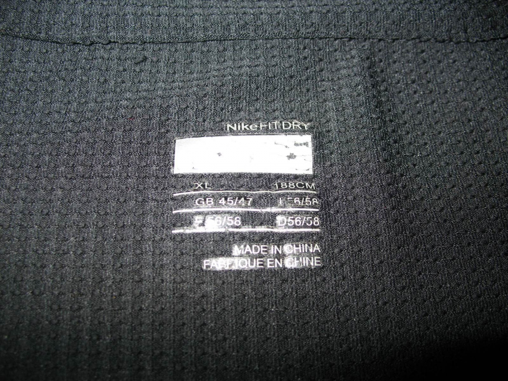 Футболка NIKE fit dry jersey (размеры 183 см/L и 188 см/XL) - 4