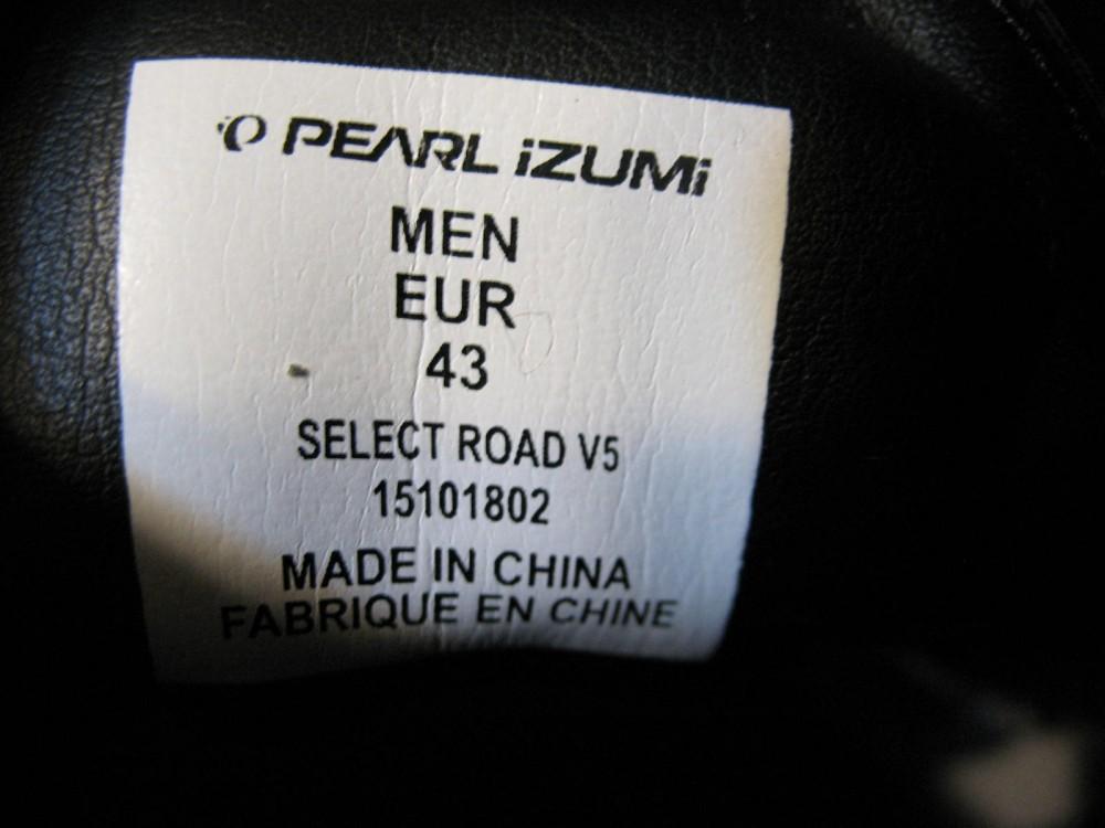 Велотуфли PEARL IZUMI select road V5 shoes (размер E43(на стопу до 275 mm)) - 12