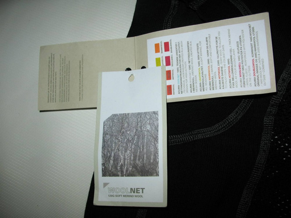 Термобелье ACLIMA 120G soft merino wool jersey (размер XL) - 7