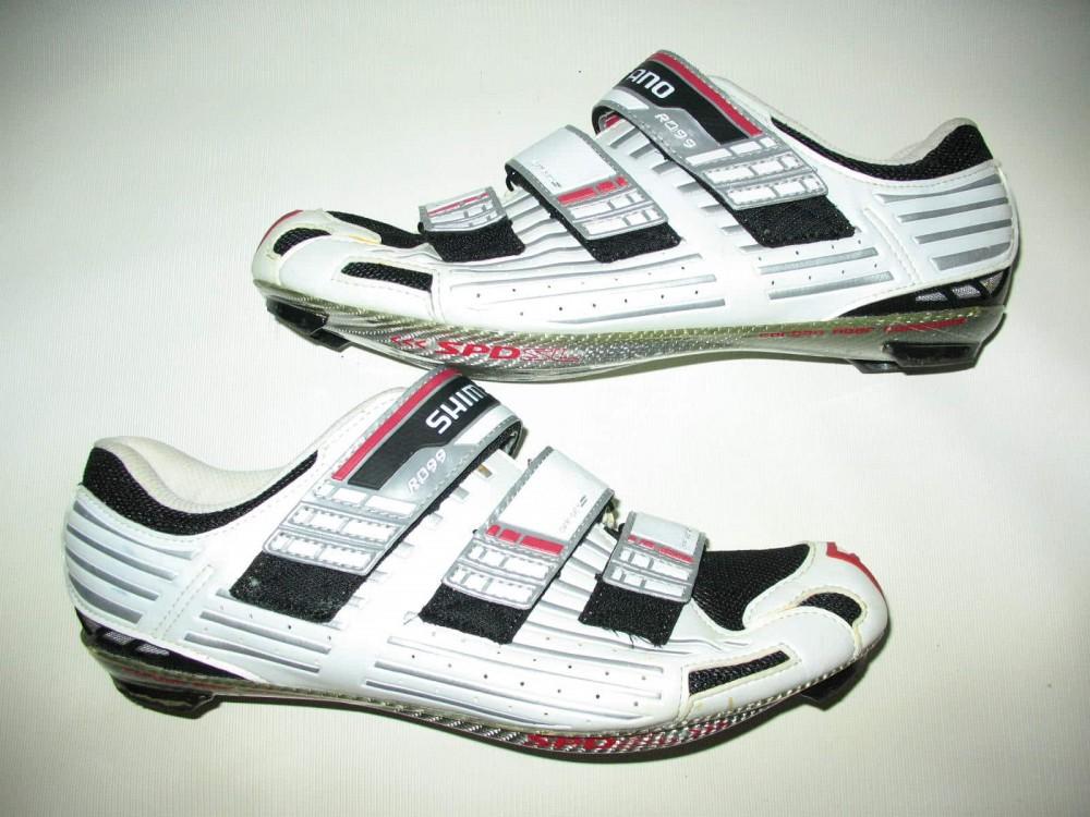 Велотуфли SHIMANO sh-r099 road shoes (размер US10,5/EU45(на стопу 285 mm)) - 1