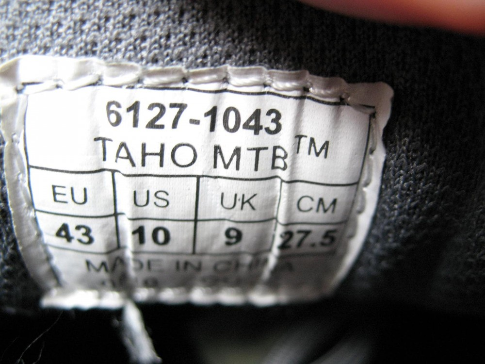 Велотуфли SPECIALIZED taho bg MTB shoes (размер UK9/US10/EU43(на стопу до 275 mm)) - 9