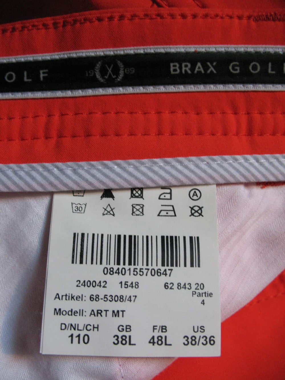 Штаны BRAX golf art mt pants (размер XXL/XL) - 8