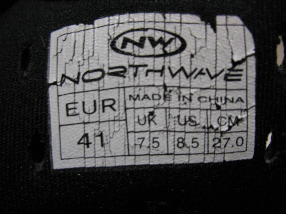 Велотуфли NORTHWAVE raptor cycling shoes (размер US8,5/UK7,5/EU41(на стопу до 265 mm)) - 7