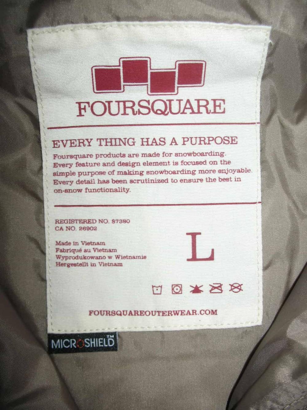 Куртка FOURSQUARE vise jacket (размер L) - 15