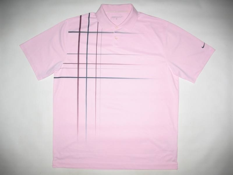 Футболка NIKE jetstream plaid polo (размер L/XL) - 1