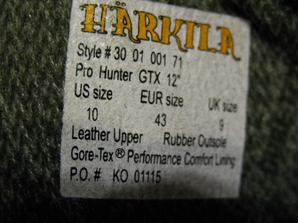 Ботинки HARKILA pro hunter GTX 12 hunter boots (размер UK9/US10/EU43(на стопу до 275 mm)) - 10