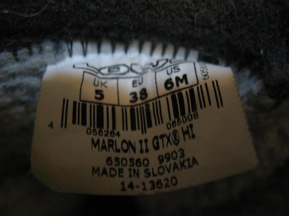 Ботинки LOWA marlon II gtx hi shoes lady (размер UK5,5;EU38,5(на стопу до 245mm)) - 9