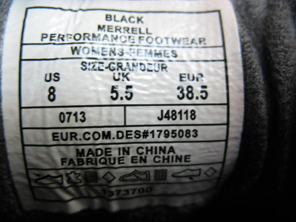 Кроссовки MERRELL proterra gore-tex hiking shoes lady (размер UK5,5/US8/EU38,5(на стопу до   250mm)) - 10
