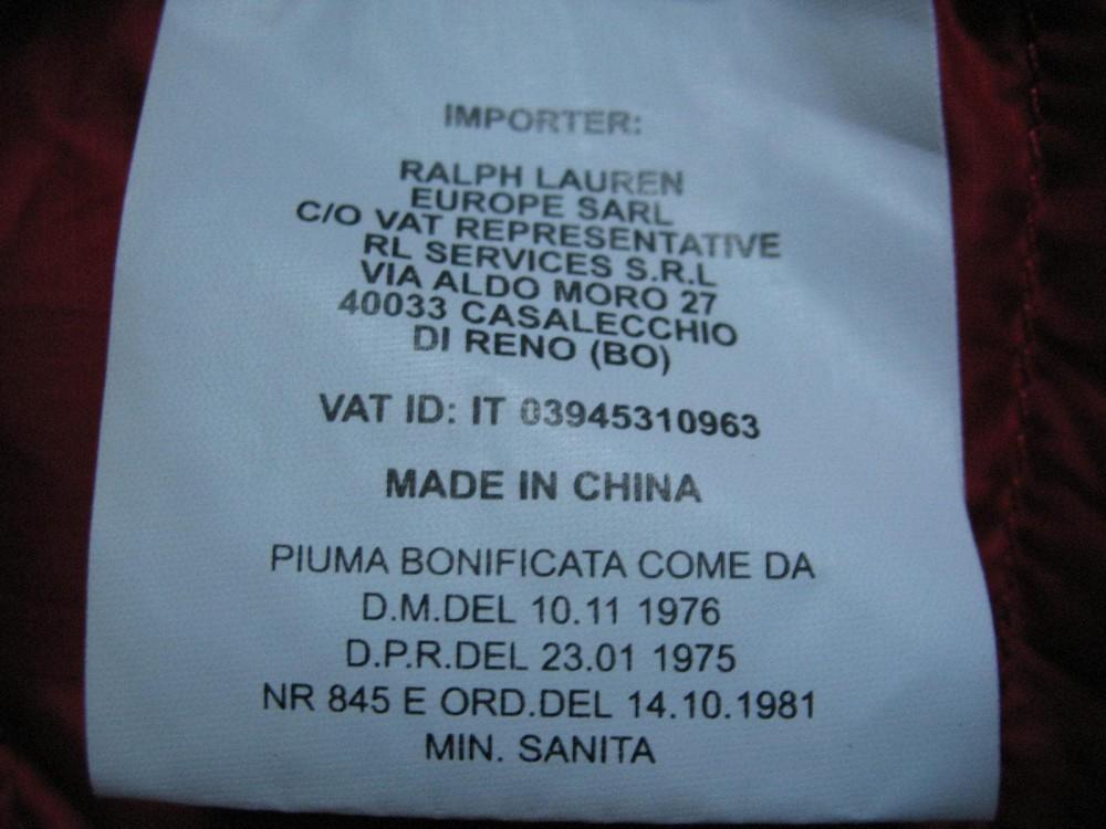 Жилет RLX RALPH LAUREN  down vest (размер L) - 11