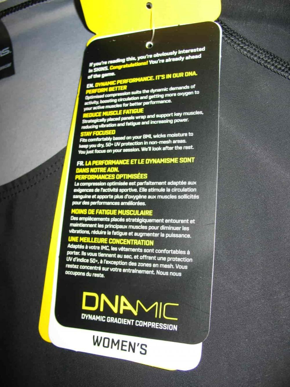 Футболка SKINS DNAmic compression long sleeve top lady (размер M) - 6