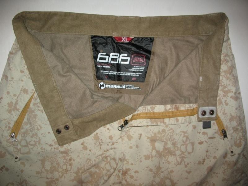 Штаны 686 Mannual Scull  pants  (размер XL) - 4