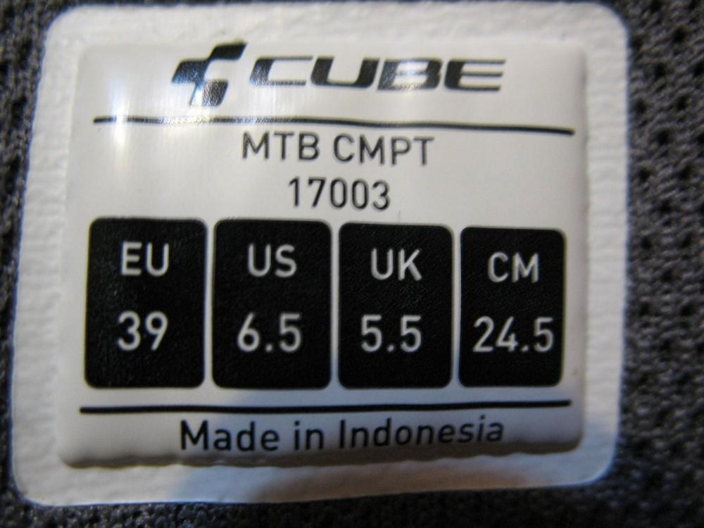 Велотуфли CUBE mtb cmpt shoes (размер US6,5/EU39(на стопу до 245 mm)) - 9