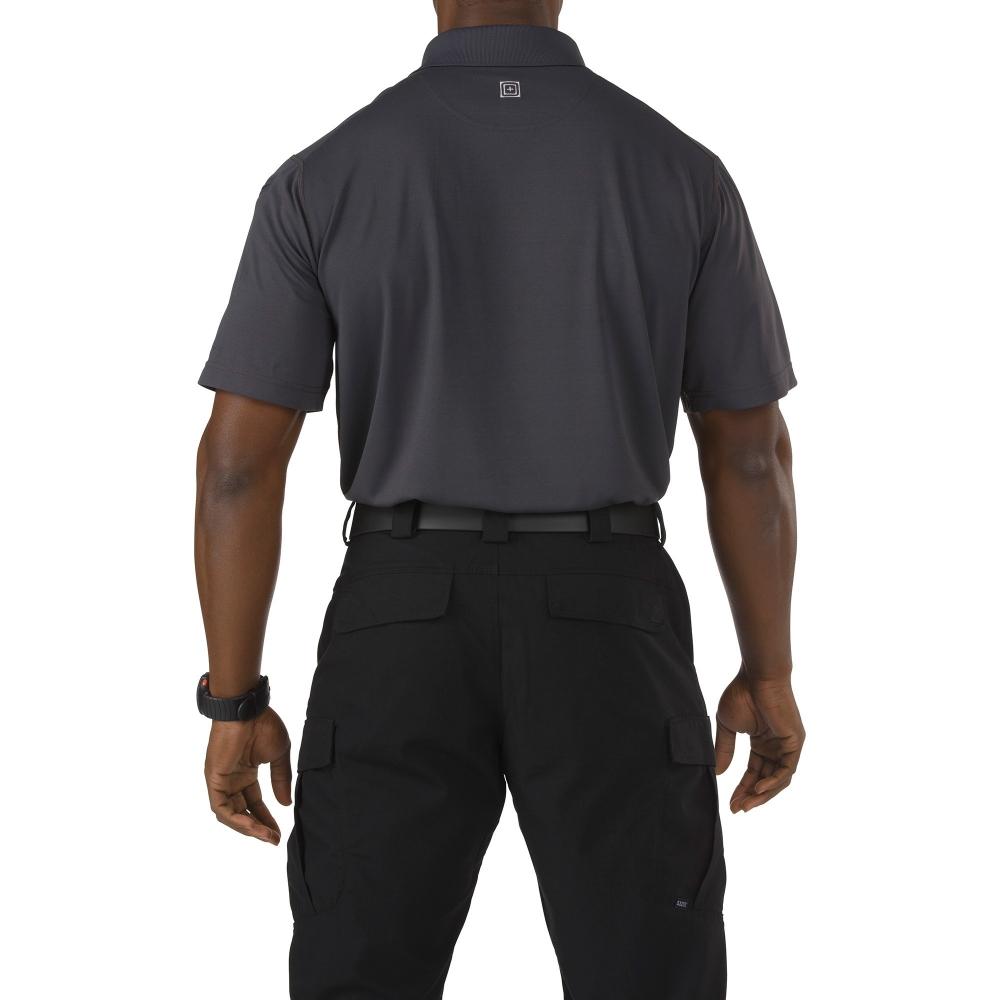 Футболка 5.11  tactical professional pinnacle grey short sleeve polo jersey - 1