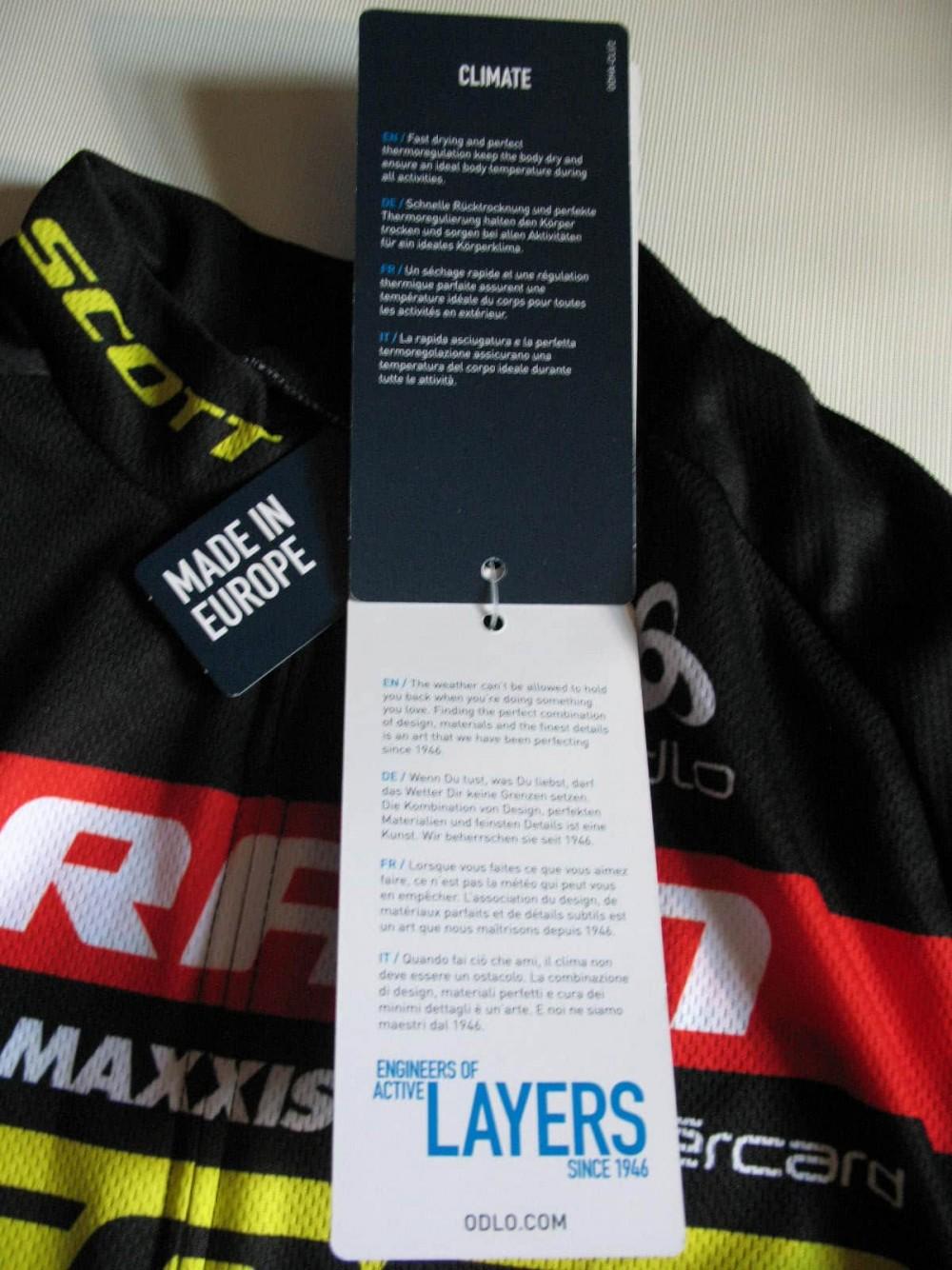 Веломайка ODLO scott sram cycling jersey (размер L) - 6