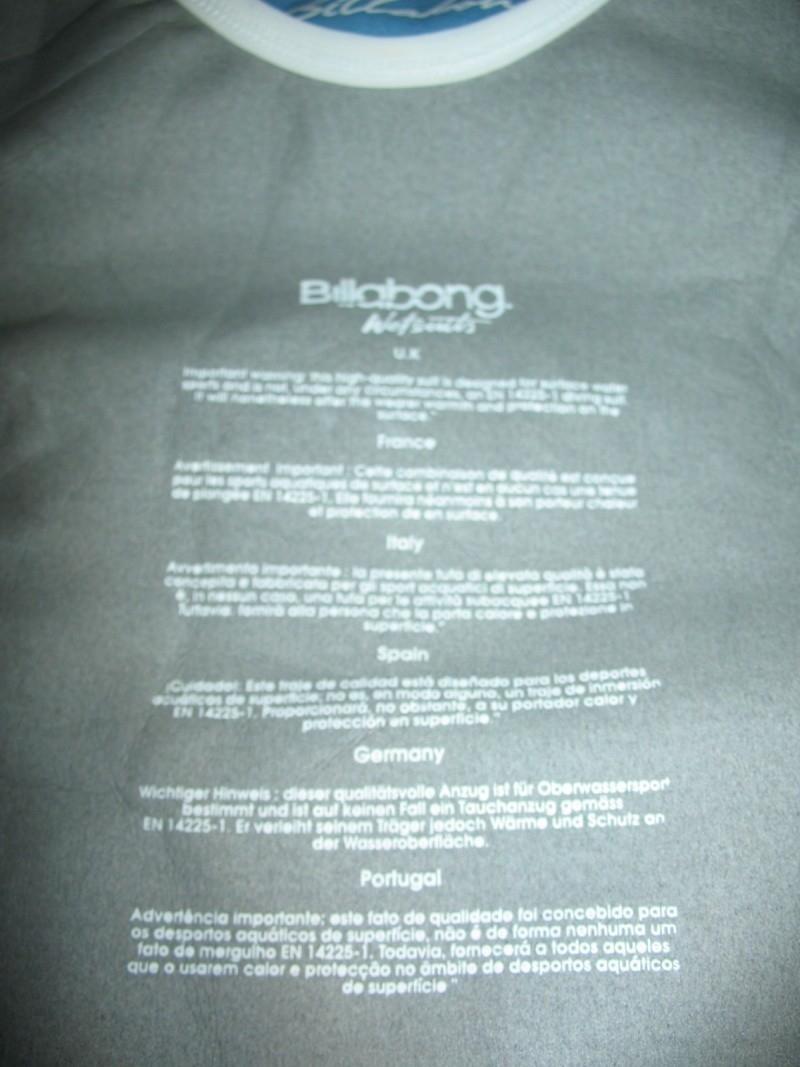 Футболка BILLABONG Equator 0. 5mm Neoprene Vest lady  (размер 12M) - 4