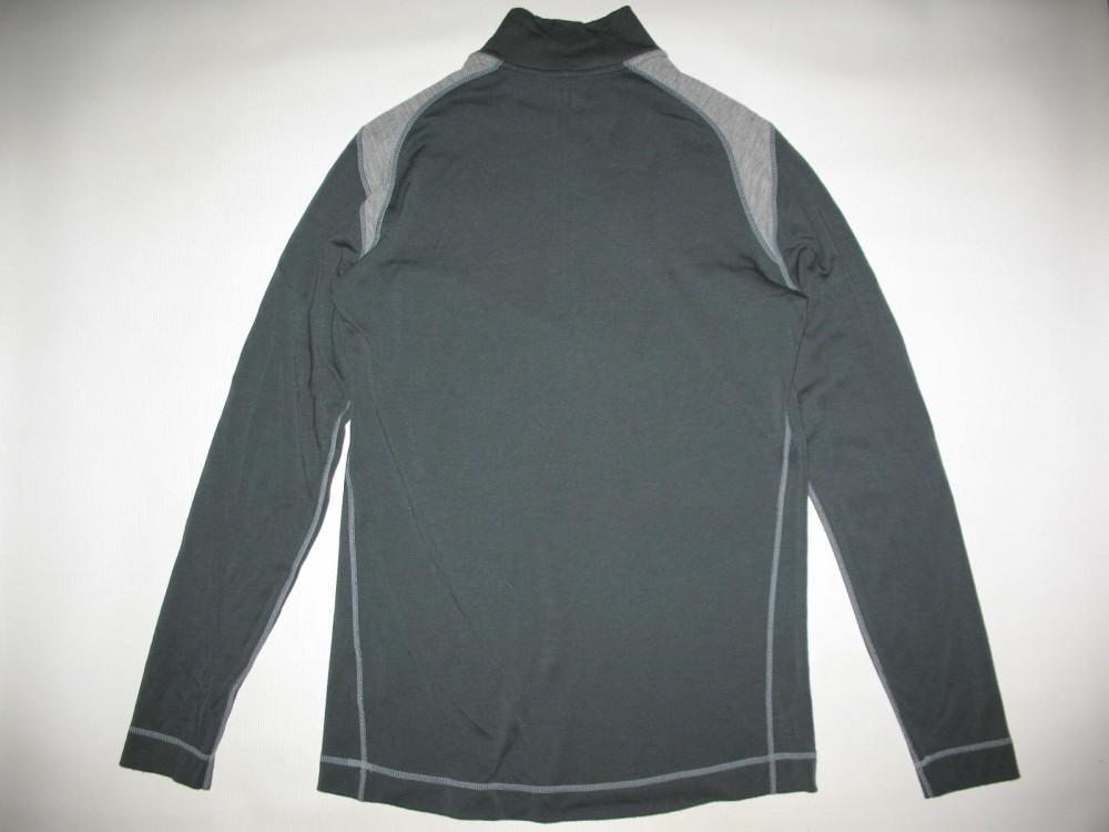 Кофта SMARTWOOL merino 250 base layer 1/4 zip grey jersey (размер XL) - 1