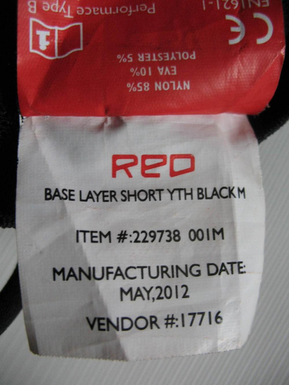 Шорты RED by Burton base layer short (размер M(юношеский)/XS(взрослый)) - 9