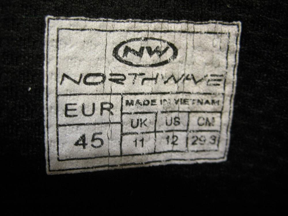 Велотуфли NORTHWAVE spike evo MTB shoes (размер US12/UK11/EU45(на стопу 293 mm)) - 13