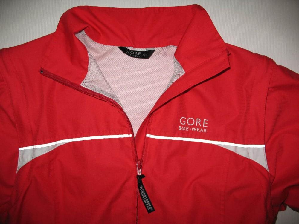 Куртка GORE bike wear 2in1 windstopper red jacket lady (размер 38/M) - 3