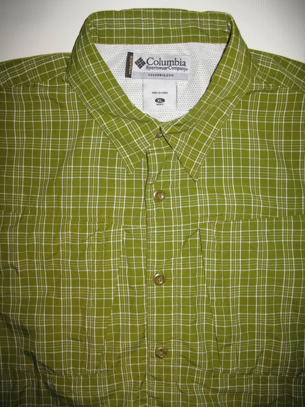 Рубашка COLUMBIA titanium green shirts (размер XL) - 3