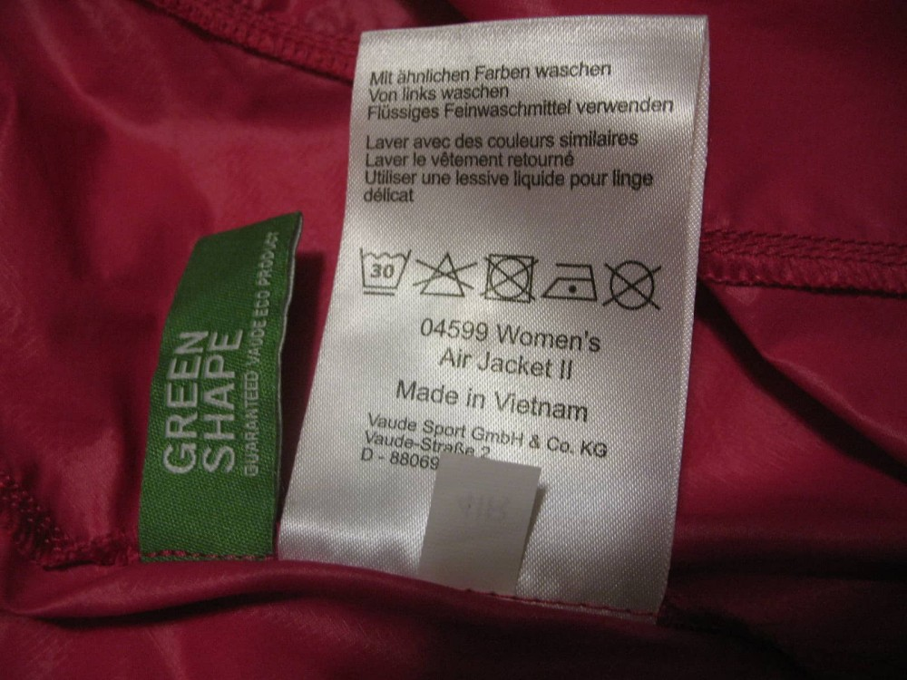 Куртка VAUDE air ll jacket lady (размер 34-XXS/XS) - 10