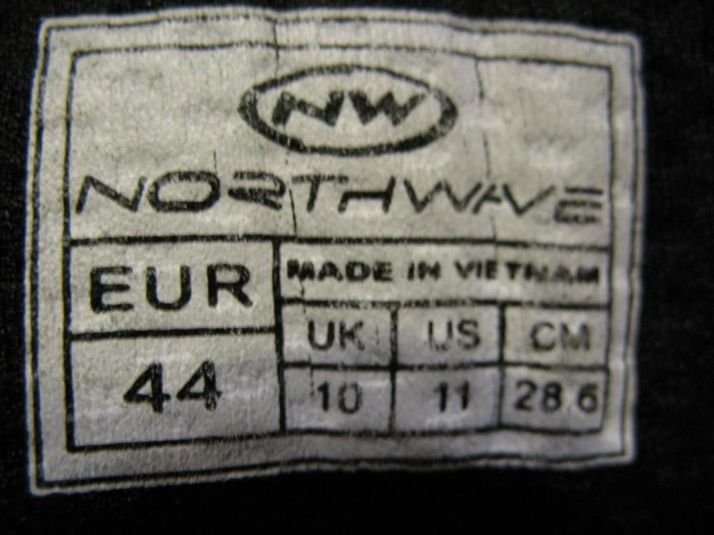 Велотуфли NORTHWAVE sparta MTB shoes (размер UK10/US11/EU44(на стопу до 286 mm)) - 10