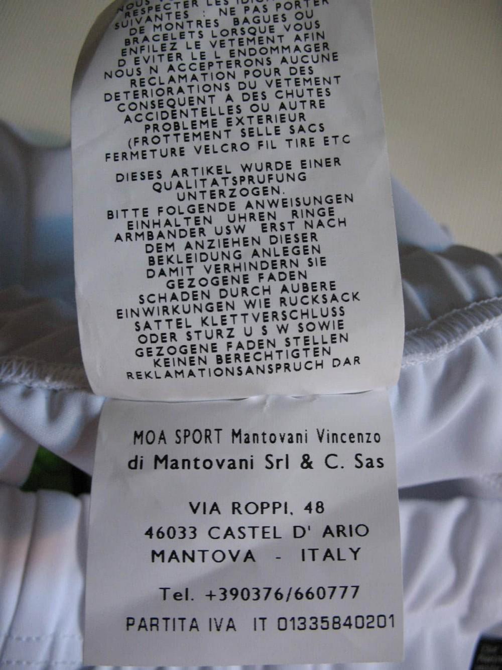 Велошорты NALINI white cycling shorts lady (размер S) - 9