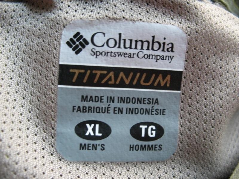 Рубашка COLUMBIA tianium shirt (размер XL) - 9