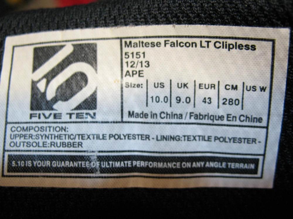 Велотуфли 5.10(Five Ten) maltese falcon LT clipless shoes (размер US10/UK9/EU43(на стопу до   280 mm)) - 11