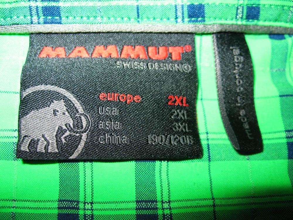 Рубашка MAMMUT belluno green shirt (размер XXL) - 4