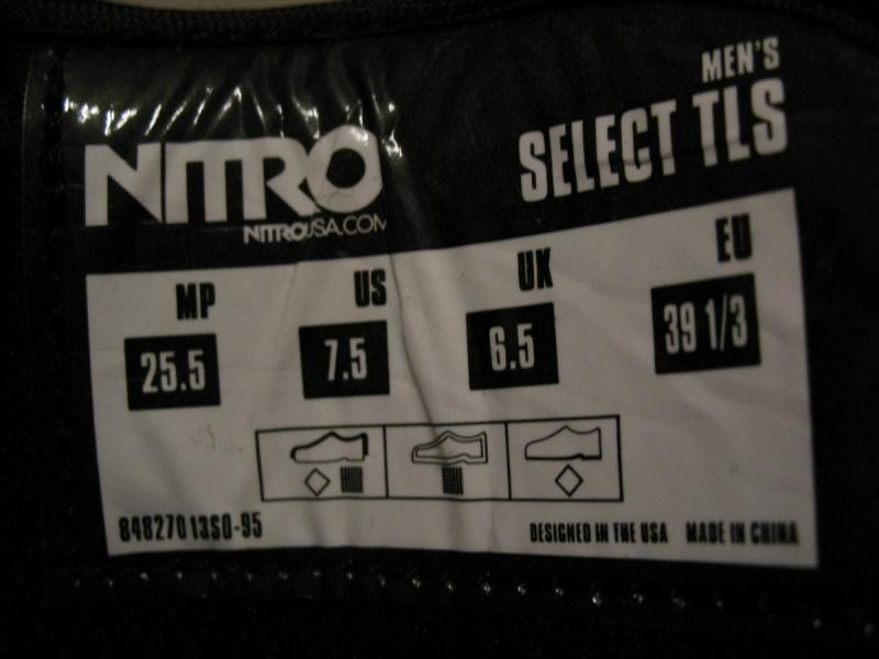 Ботинки NITRO select tls  (размер US 7, 5/UK6, 5/EU39+1/3  (250-255mm)) - 15