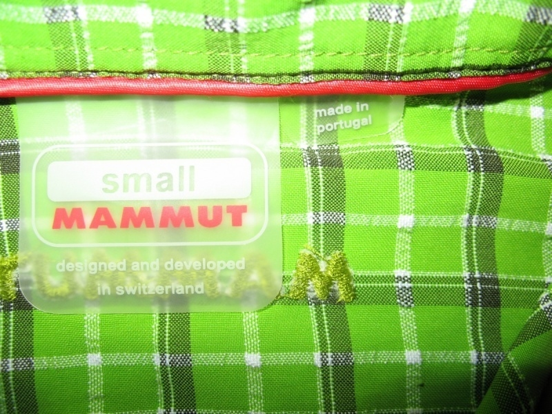 Рубашка MAMMUT shirts green lady  (размер S/M) - 4