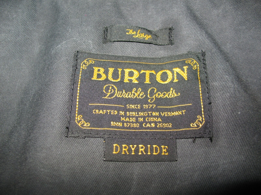Куртка BURTON mb match jacket (размер L) - 11