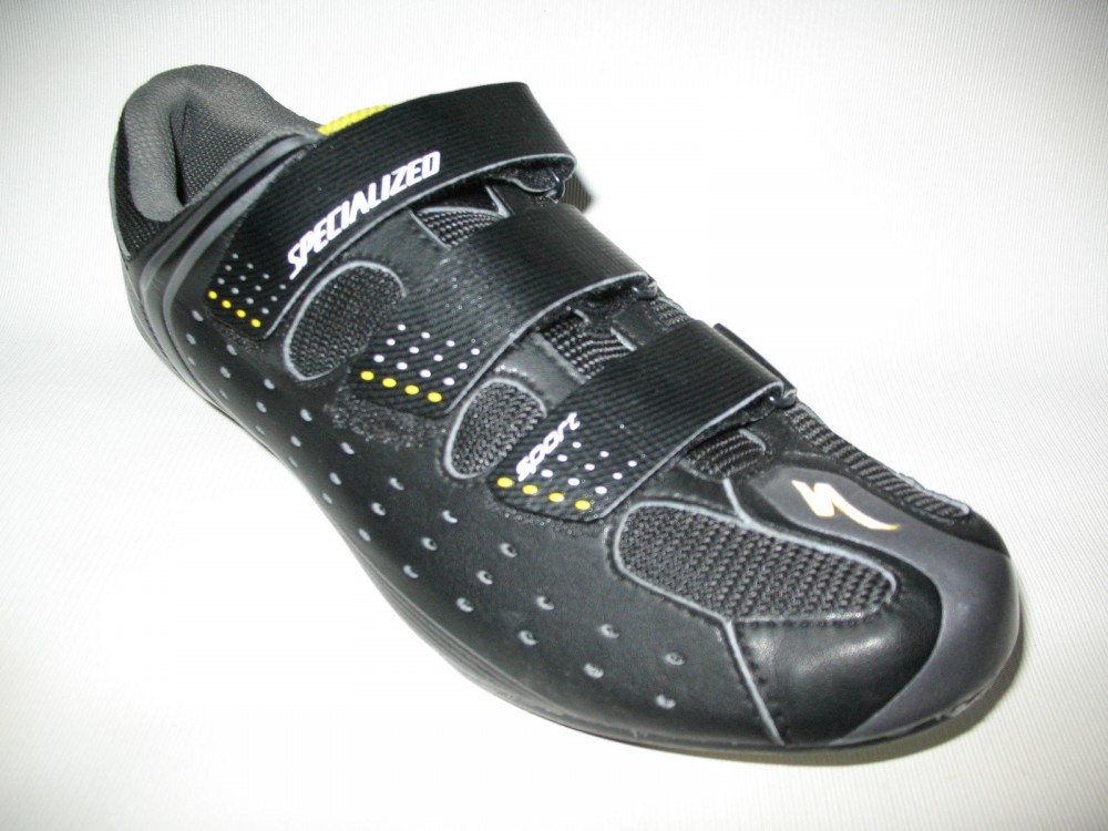 Велотуфли SPECIALIZED sport road black shoes (размер US11/UK10/EU44(на стопу до 283 mm)) - 1