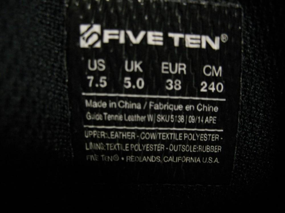 Кроссовки FIVE TEN 5.10 guide tennie shoes lady (размер UK5/US7,5/EU38(на стопу 240 mm)) - 8