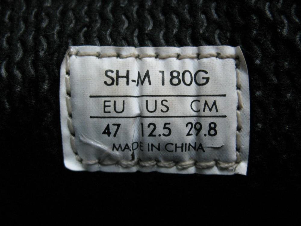 Велотуфли SHIMANO sh-m180g mtb bike shoes (размер UK12,5/EU47(на стопу до 298 mm)) - 10