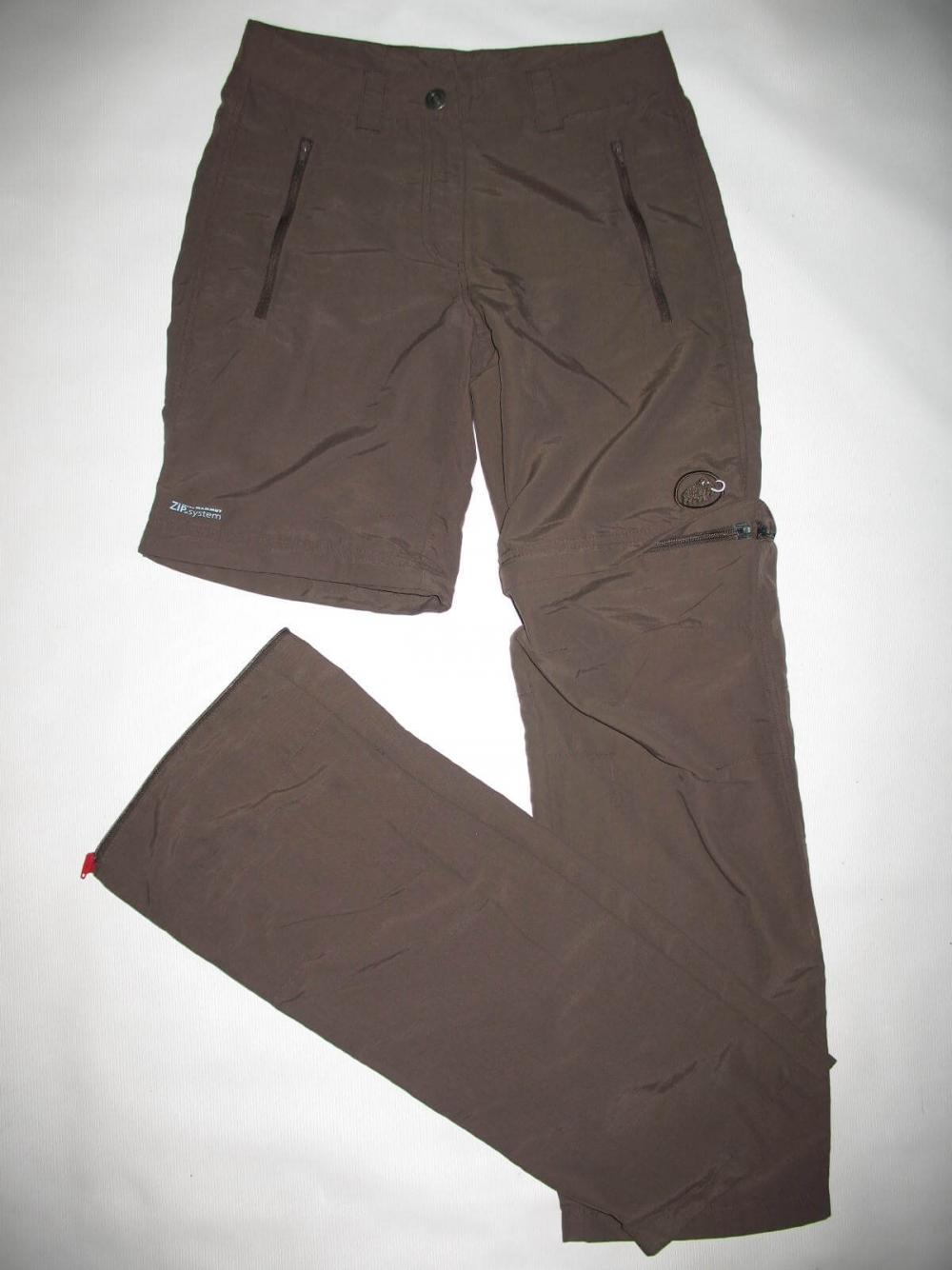 Штаны MAMMUT Zip Off brown pants lady (размер S/XS) - 4