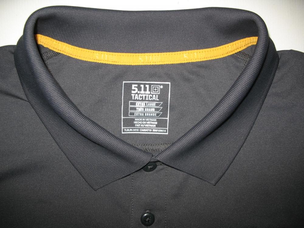 Футболка 5.11  tactical professional pinnacle grey short sleeve polo jersey - 5
