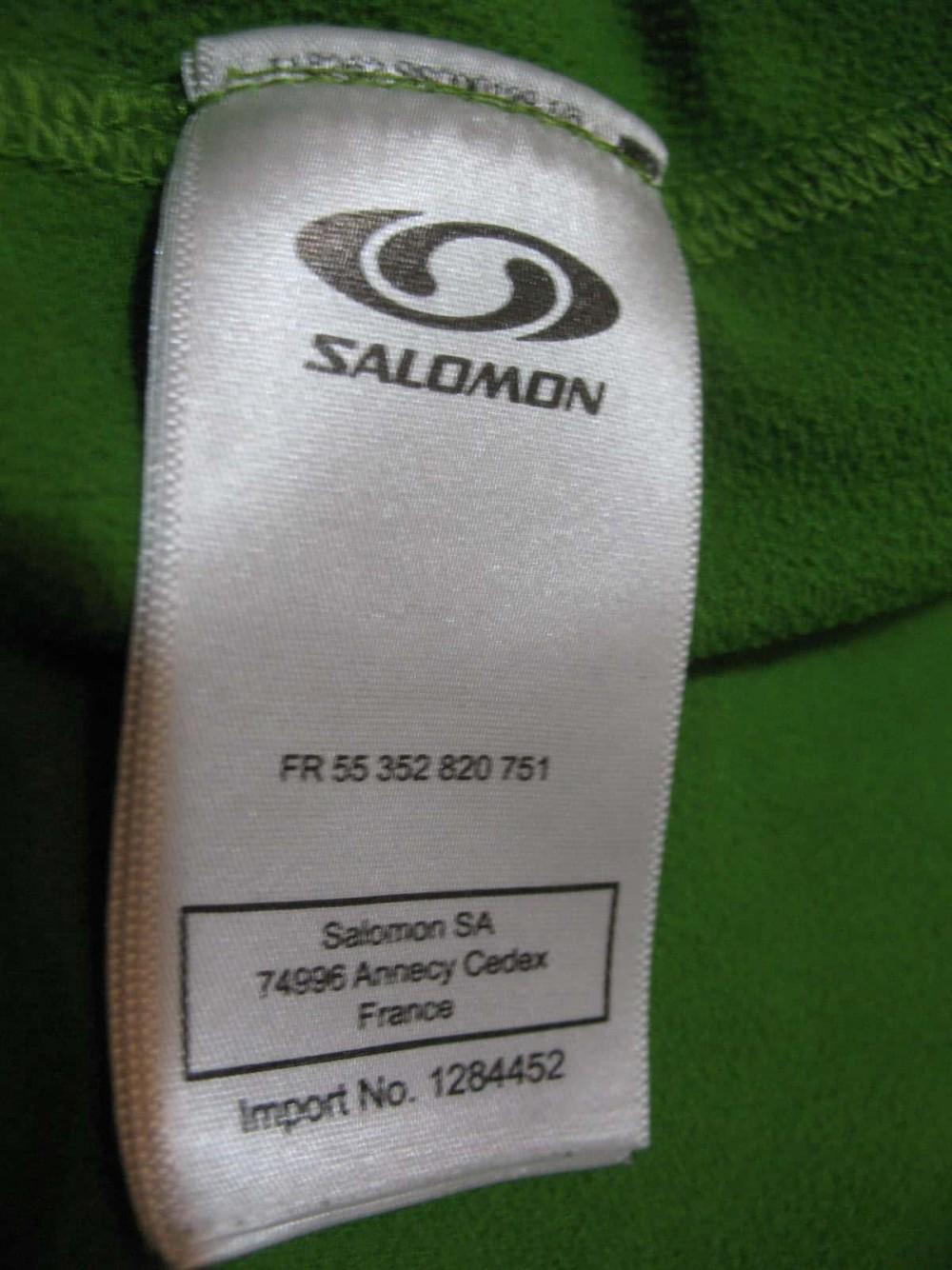 Кофта SALOMON fleece jacket (размер XL) - 7